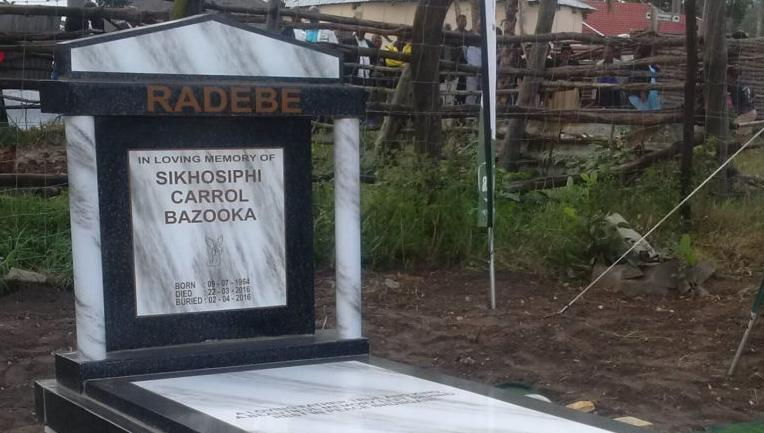 The grave of Bazooka Radebe. (Photo: John Clarke)